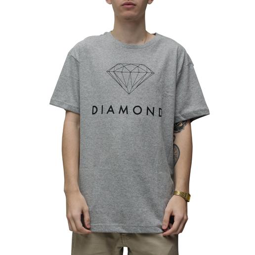 Camiseta Diamond Futura Sign Cinza