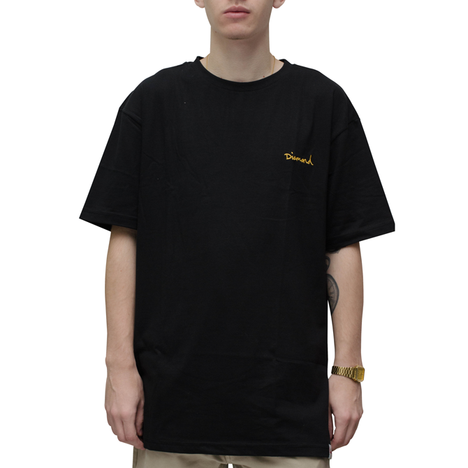 Camiseta Diamond Mini OG Script Preta