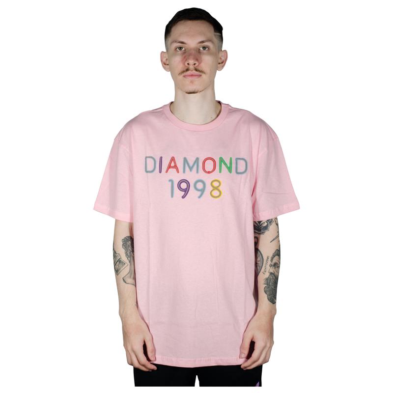 Camiseta Diamond Radiant Neon Rosa