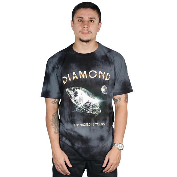 Camiseta Diamond World Is Your Wash Tee Tie Dye