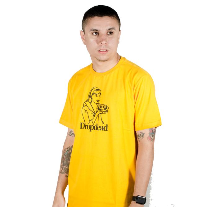 Camiseta Drop Dead Baked Amarela