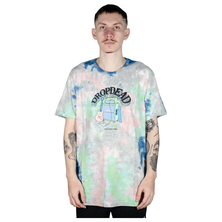 Camiseta Drop Dead Especial Amplifier Tie Dye