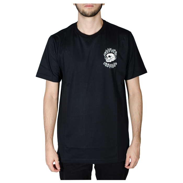 Camiseta Drop Dead Flame Preto 70241012