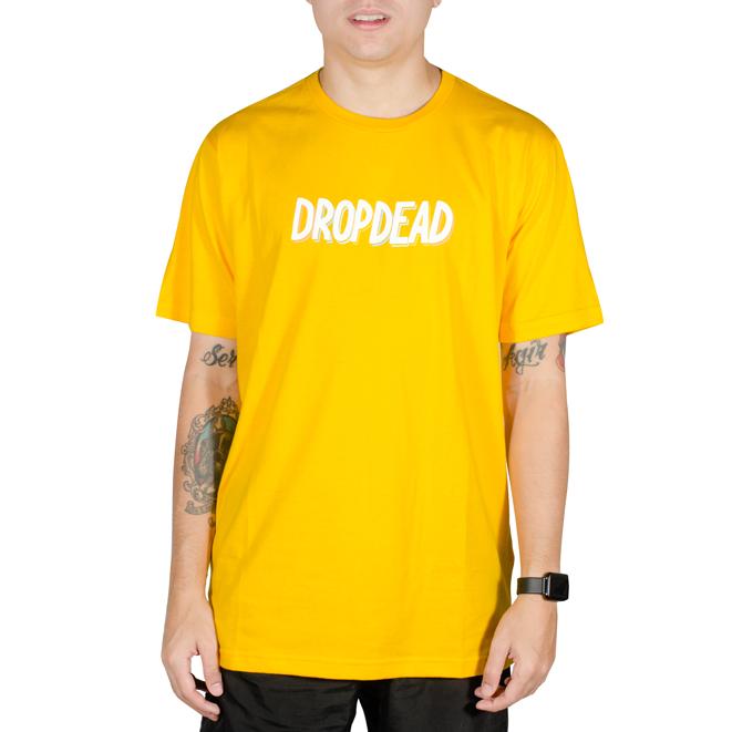 Camiseta Drop Dead Gas Colored Amarela