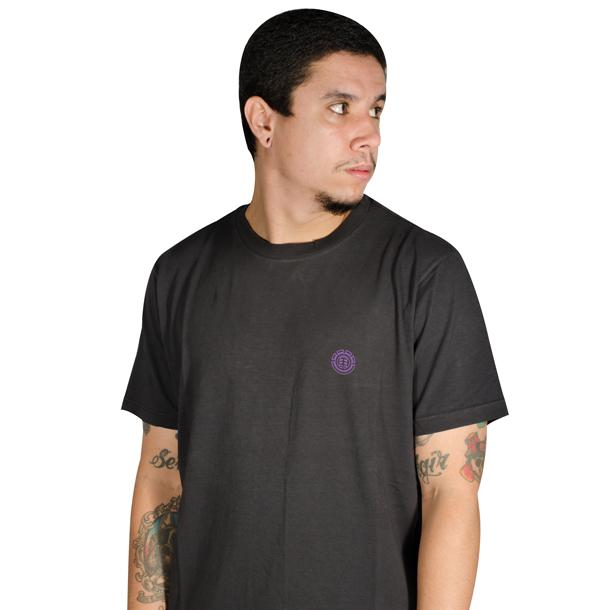 Camiseta Element Stone Logo Preta