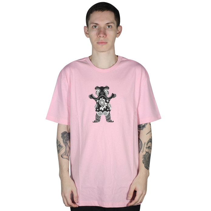 Camiseta Grizzly Bandana Bear Pink