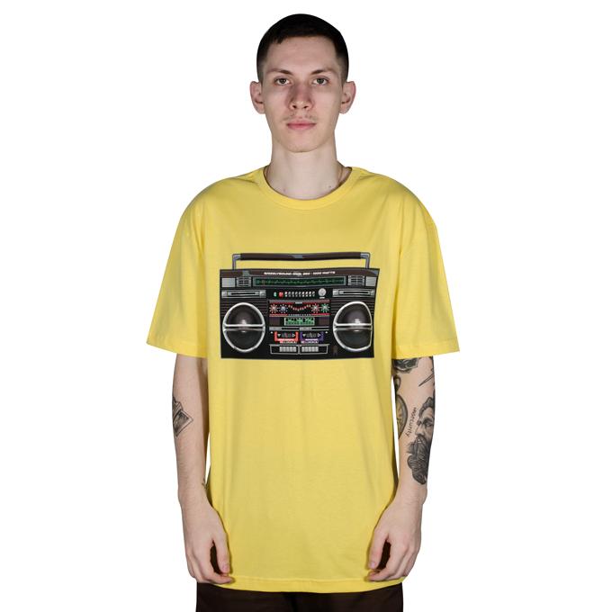 Camiseta Grizzly Boom Box Amarela