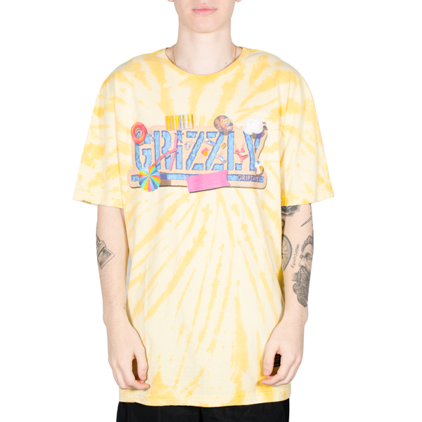 Camiseta Grizzly Pool Party Tie Dye Amarela