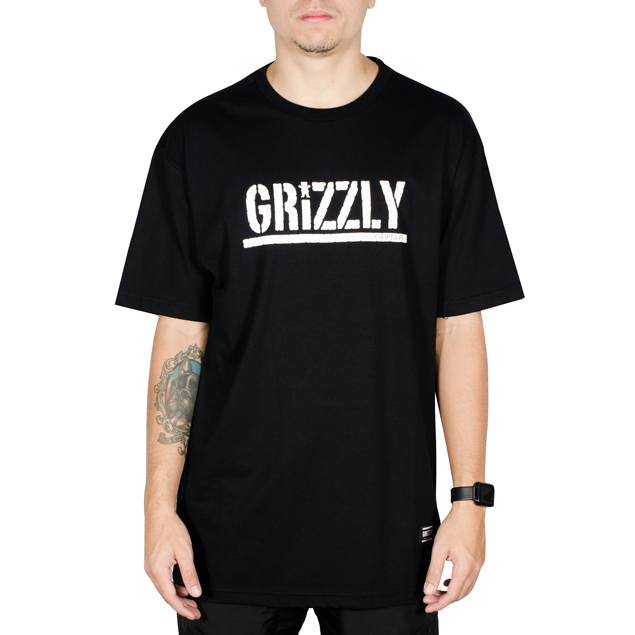 Camiseta Grizzly Stamped Preta