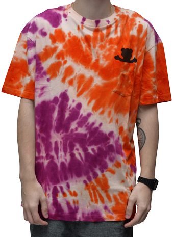 Camiseta Grizzly Sunscape Pocket TEE Tie Dye