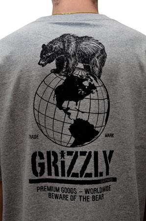 Camiseta Grizzly World Domination Mescla Cinza