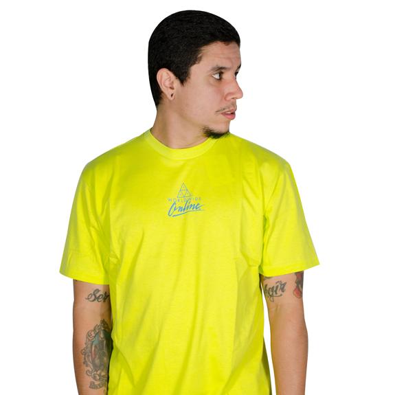 Camiseta Huf Forbidden Domain Amarelo Neon