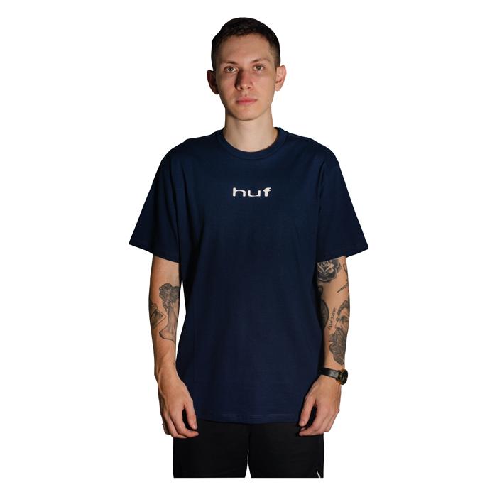 Camiseta HUF Peaking Azul Marinho