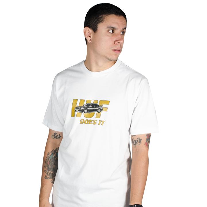 Camiseta Huf Pusher SS Branca