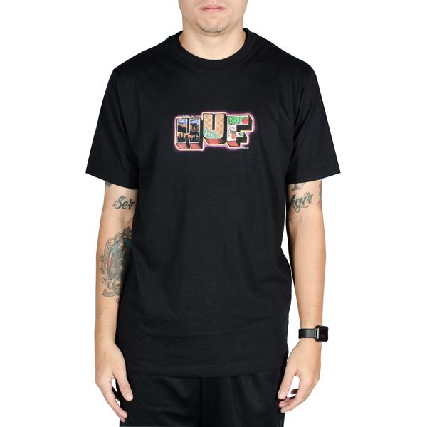 Camiseta Huf Town Preta