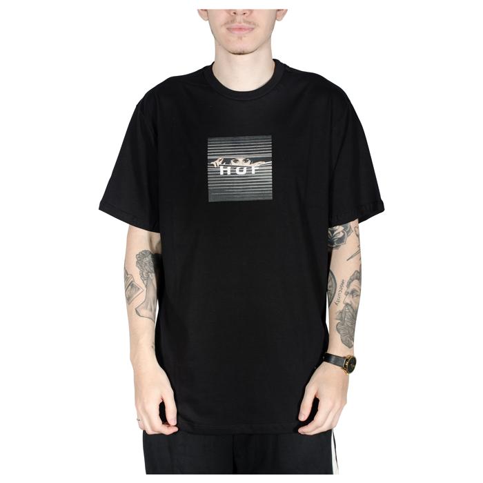 Camiseta HUF Voyeur Box Logo Preta