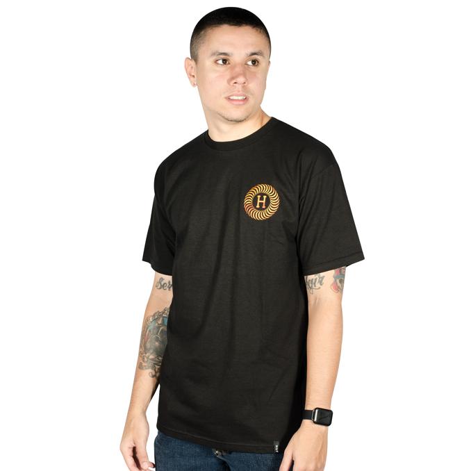 Camiseta Huf x Spitfire Fire Swirl Preta