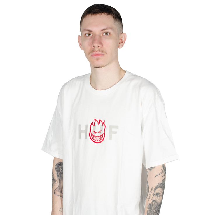 Camiseta Huf X Spitfire OG Logo Branca