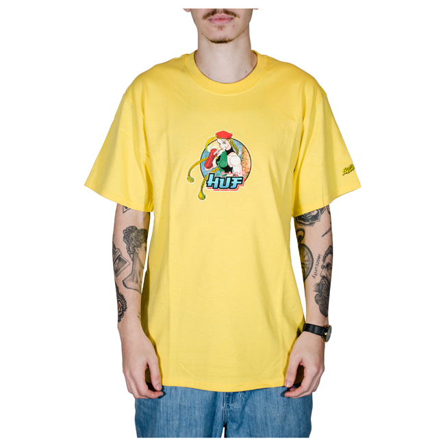 Camiseta Huf X Street Fighter II Cammy Amarela