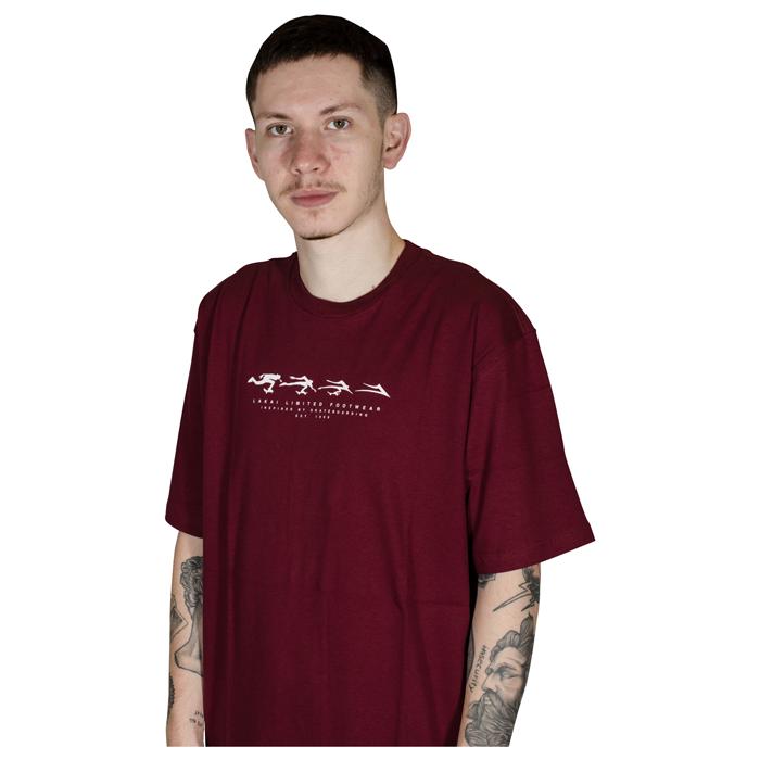 Camiseta Lakai Evolve Bordo LKTS01000202