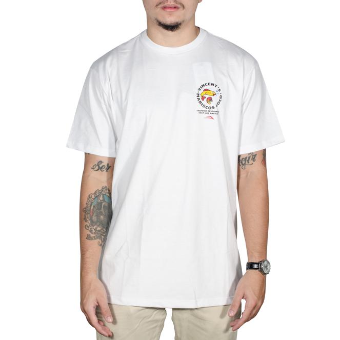 Camiseta Lakai Vicent Mariscos Branca