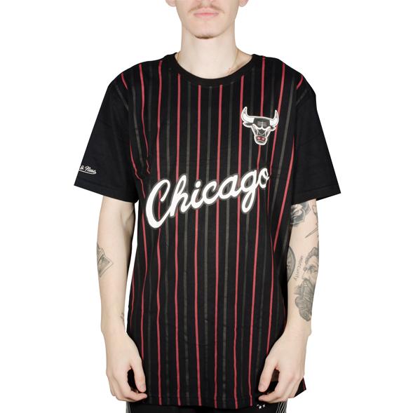 Camiseta Mitchell & Ness Chicago Bulls Soccer Preta
