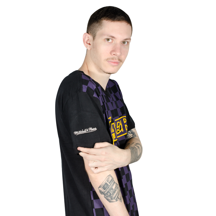 Camiseta Mitchell & Ness Los Angeles Lakers Preta