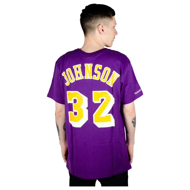 Camiseta Mitchell & Ness Los Angeles Lakers Roxa