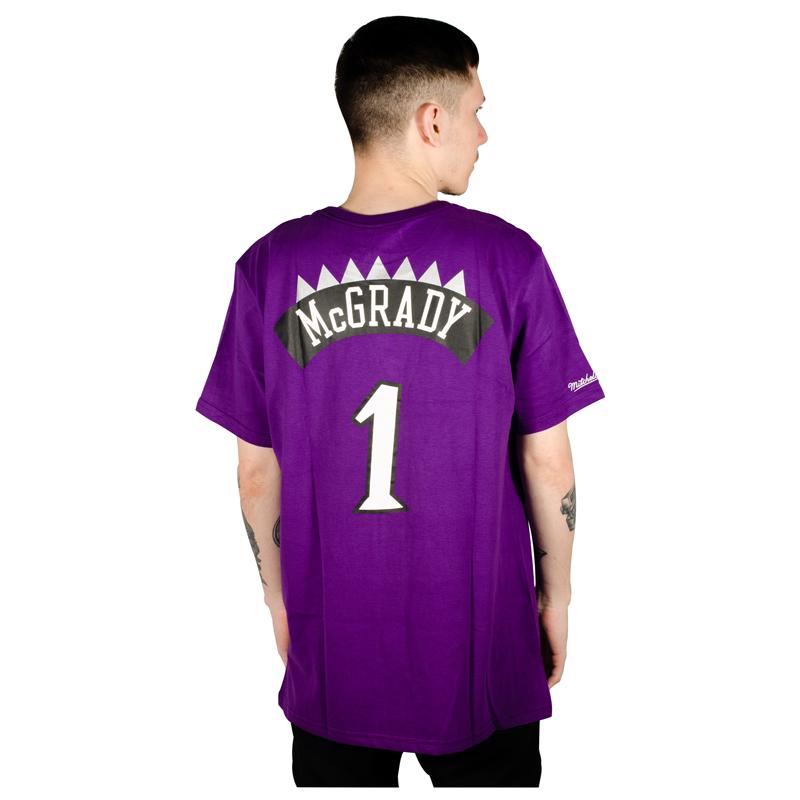 Camiseta Mitchell & Ness Toronto Raptors Tracy McGrady Roxa