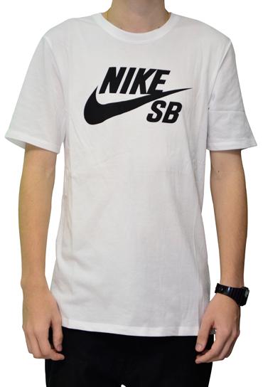 Camiseta Nike Sb Branca com Logo Preto