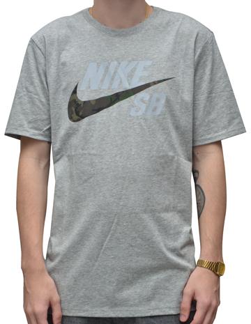 Camiseta Nike SB Camo Cinza