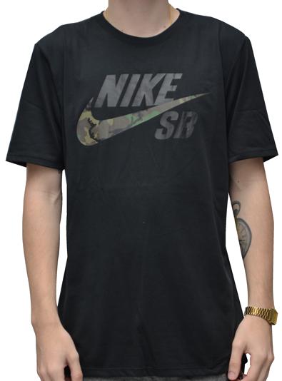 Camiseta Nike SB Camo Preta