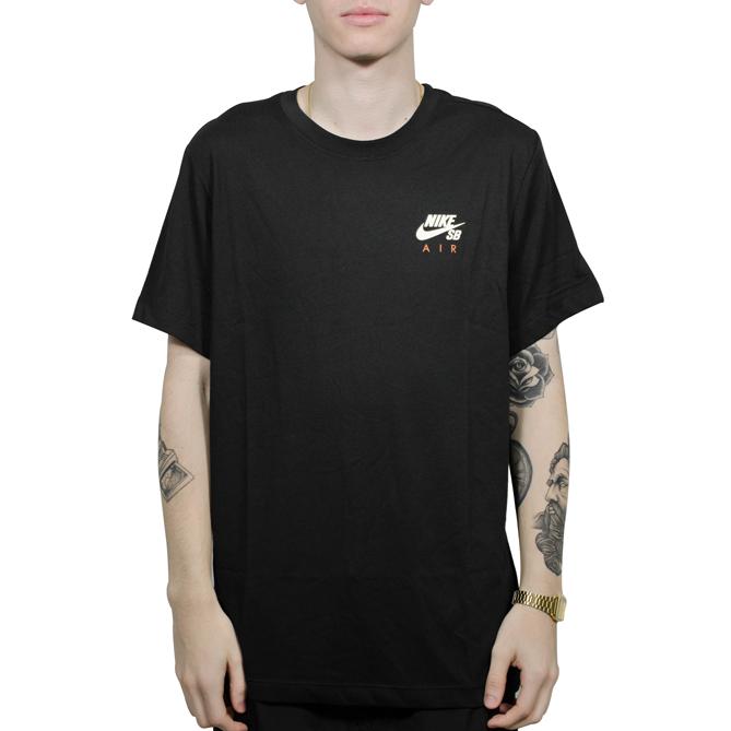 Camiseta Nike SB Dry Fit Preta Laranja