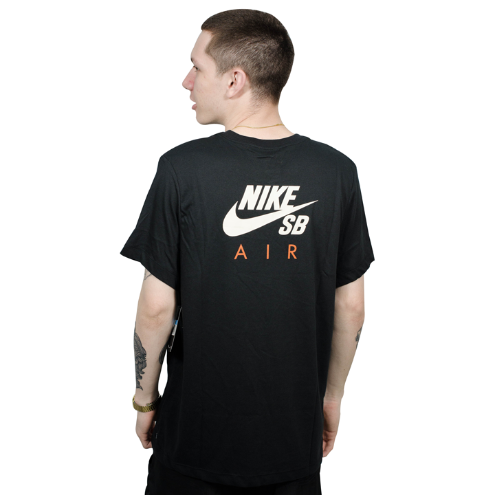 ... Camiseta Nike SB Dry Fit Preta Laranja - Via Skate Shop 092f6d7334717
