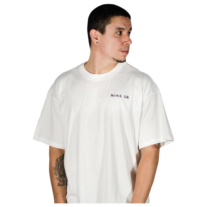 Camiseta Nike SB Midnight Branca DD1304100