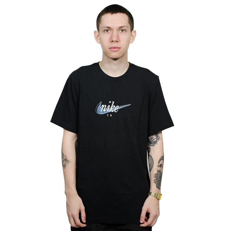 ... Camiseta Nike SB Preta - Via Skate Shop c9c7eeb3f4198