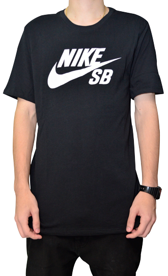 Camiseta Nike Sb Preta com Logo Branco