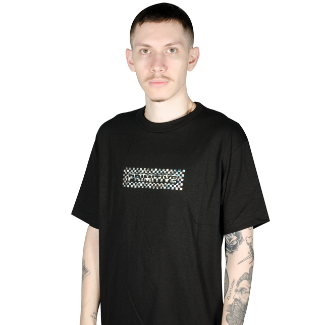 Camiseta Primitive Finish Line Hologram Foil Preta