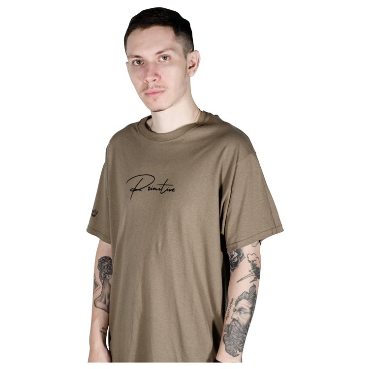 Camiseta Primitive x Dragon Ball Z Shadow Beerus Safari Green