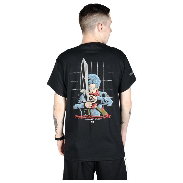 Camiseta Primitive x Dragon Ball Z Shadow Trunks Preta