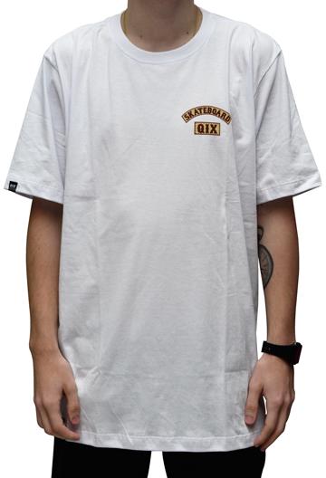 Camiseta Qix Skateboard Branca