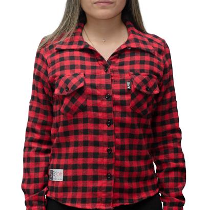 Camiseta Riot Xadrez Anchor Vermelha