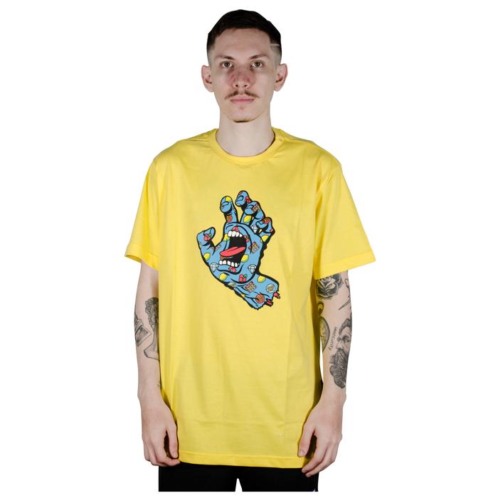 Camiseta Santa Cruz Jackpot Hand Amarela