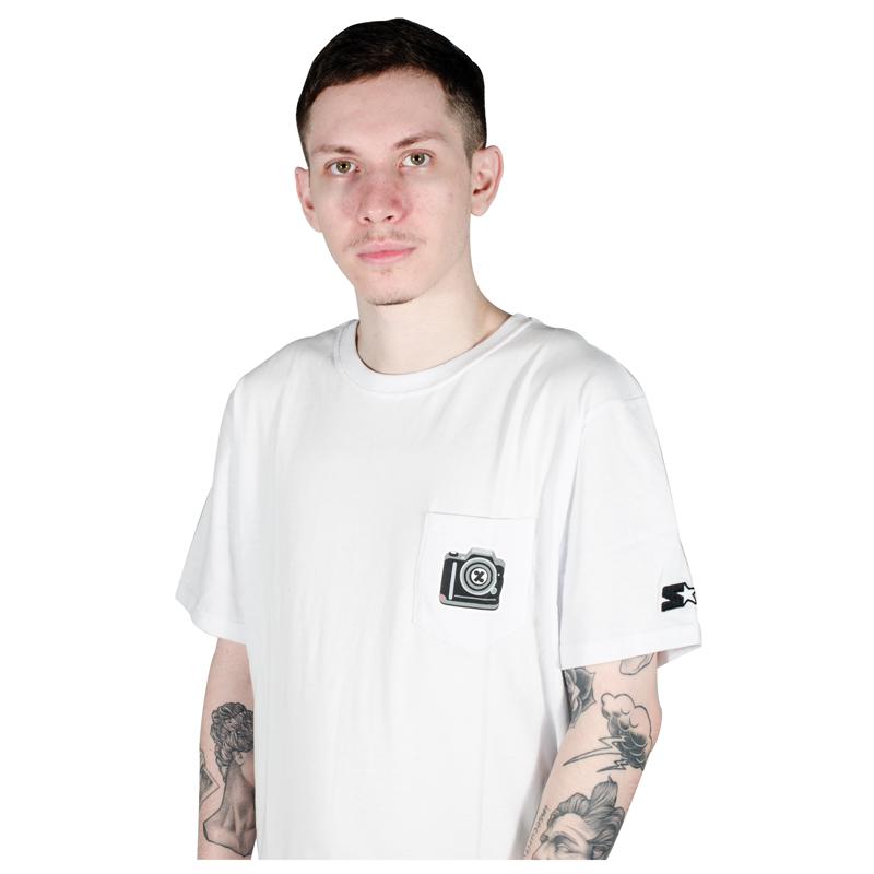 Camiseta Starter 100% Skate Branca