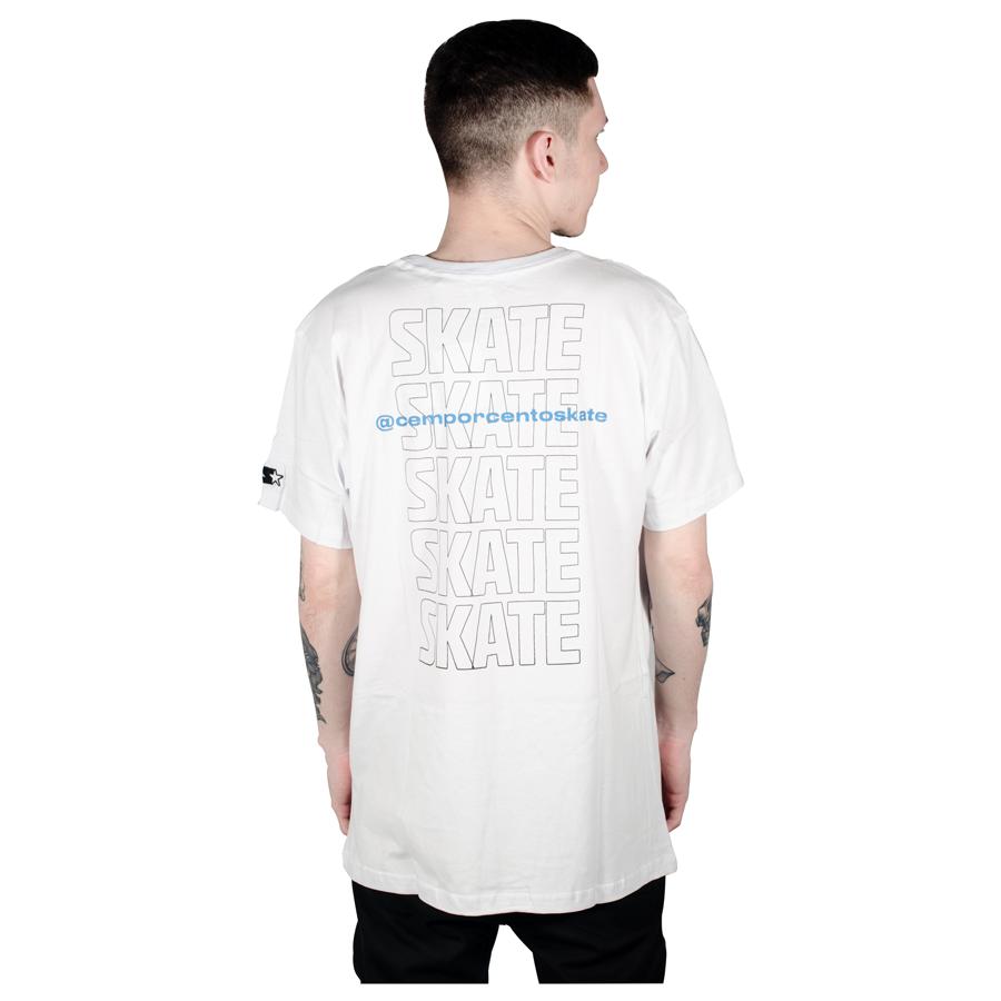Camiseta Starter 100% Skate Branco