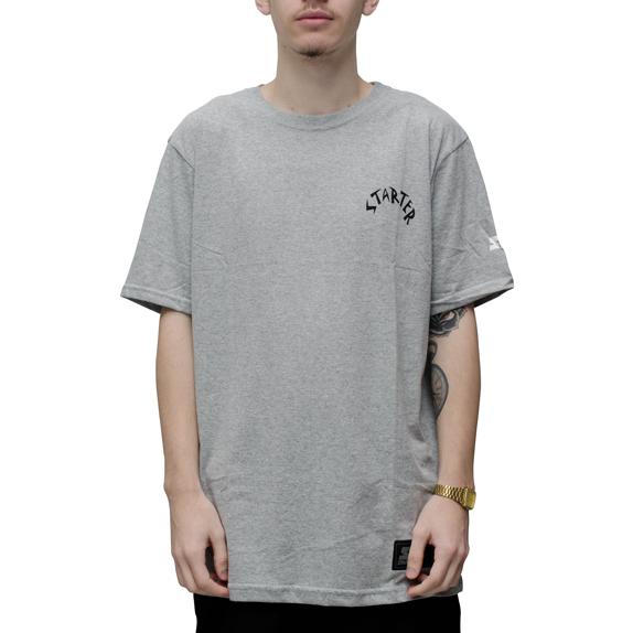 Camiseta Starter Caveira Cinza
