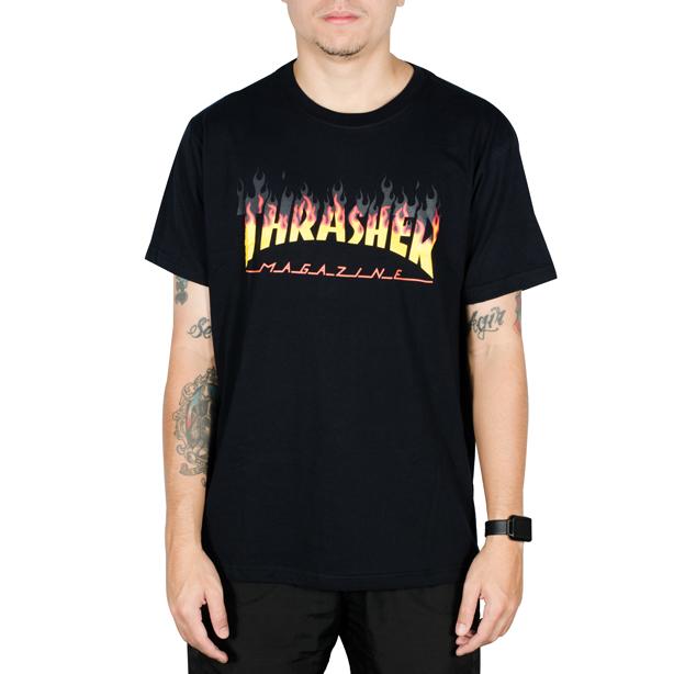 Camiseta Thrasher BBQ BIG Preta