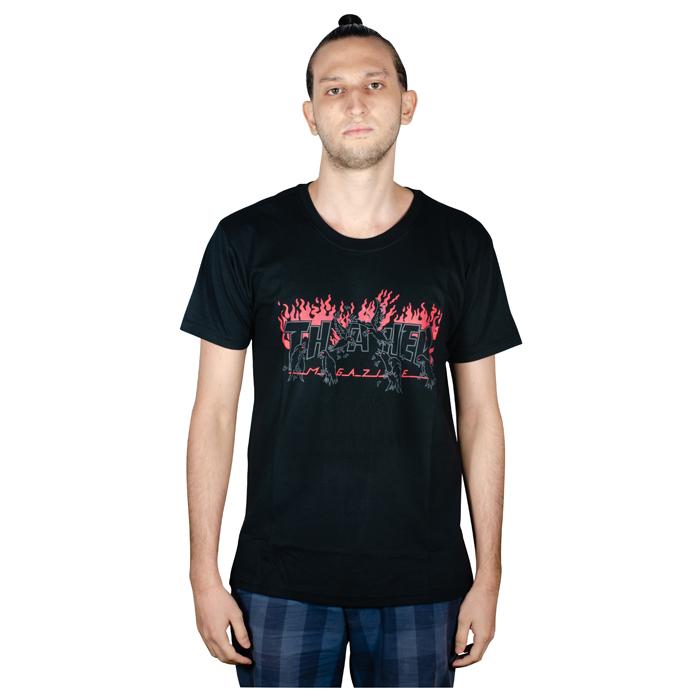 Camiseta Thrasher Crow Preta 1013020021