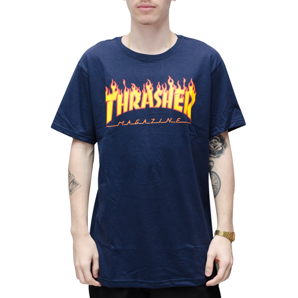 Camiseta Thrasher Flame Azul