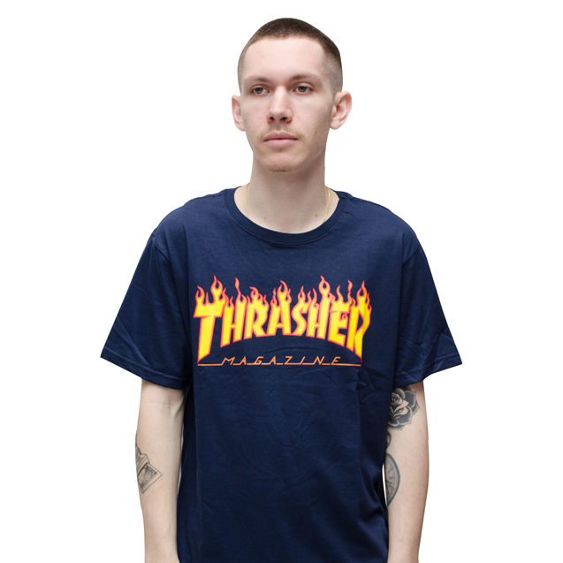 Camiseta Thrasher Flame Azul Big